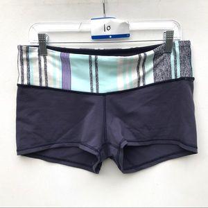 Lululemon purple booty shorts 10 bike groove